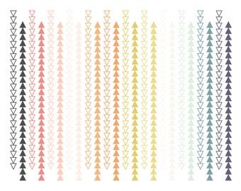 Tribal Borders // Triangle Arrow Borders // Instant Download Digital Clip Art // Digital Geometric Borders