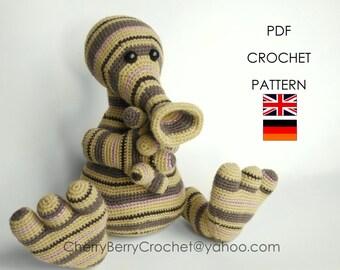 Pitu stripy monster PDF Crochet Toy Pattern