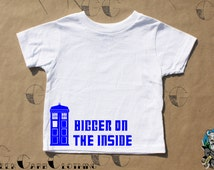"Police Call box ""Bigger on the Inside"" - Toddler T-Shirt, Infant T-Shirt"