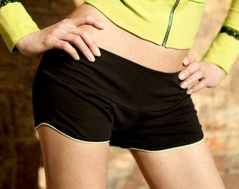 Low hips short Yoga shorts Black shorts Cotton shorts Dance shorts Sport shorts Bikram yoga / Tokka