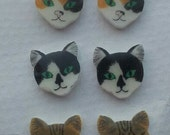 Custom made, personalized, bespoke cute cat/ kitten post/ stud earrings