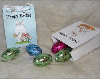 Printable Easter Bunny favor bags 2 colors DIY