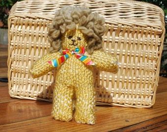 Handwoven Stuffed Lion, Handwoven Children's Lion Stuffy, Soft Lion Stuffed Animal, Woven Lion