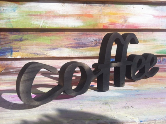 Wood Sign Wooden Letter Kitchen Sign Shabby Chic Wood Wall Decor Art