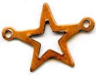 10 Vintage Copper Stars