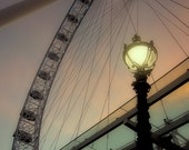 London Photography, Landmarks, London Eye, Ferris Wheel, River Thames, Photography, Modern Wall Art, Modern Home Art, Modern Office Art