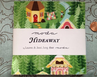 Hideaway by Lauren and Jessi Jung for Moda Fabrics - Charm Pack -  OOP