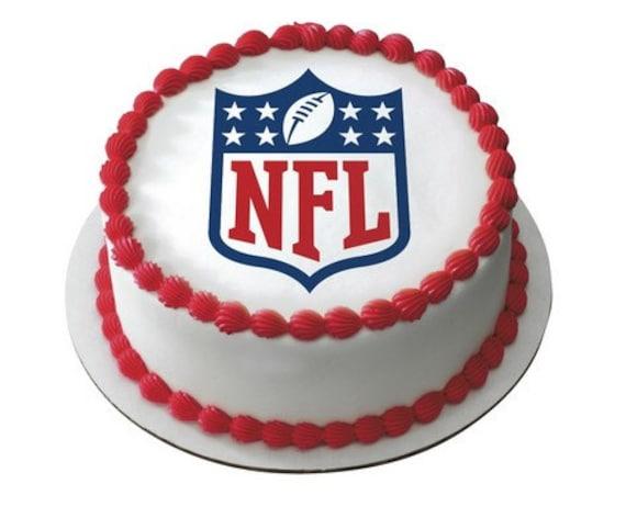 Edible Cake Images Football : NFL Football Logo Edible Cake and Cupcake by ArtofEricGunty