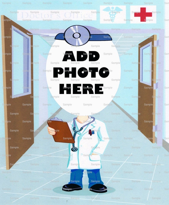 Doctor Birthday Cake Topper - Edible Cake and Cupcake Photo Frame For Birthdays and Parties! - D4673
