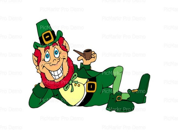 St. Patrick's Day Leprechaun  - Edible Cake and Cupcake Topper For Birthday's and Parties! - D1133