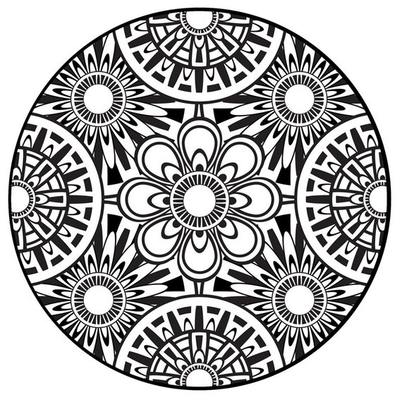 Items similar to coloring page mandala instant pdf for Adult coloring pages mandala