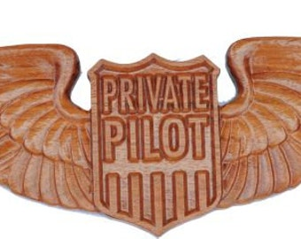 Private Pilot Wooden Wings