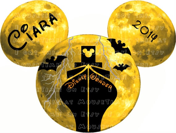 MAGNET Halloween Spooky Cruise Ears Mouse Ears Stateroom ~ 015650_Halloween Door Magnets