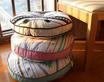 Handmade 100 Cotton Cushion Floor Pouf Floor Cushion