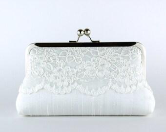 Bridal Clutch, Silk Clutch, Bridesmaid Gift, Wedding clutch