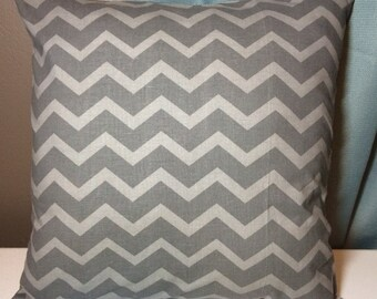 Custom made gray tonal chevron pillow cover/sham. Multiple sizes to choose.