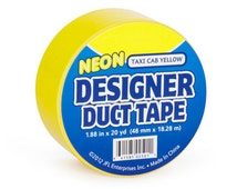 Taxi Cab Yellow Designer Brand Duct Tape Roll for crafts and Party Supplies duck tape