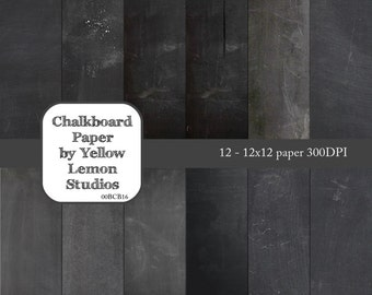 INSTANT DOWNLOAD- 12x12 Digital scrapbooking paper chalk board traditional (digital file only)