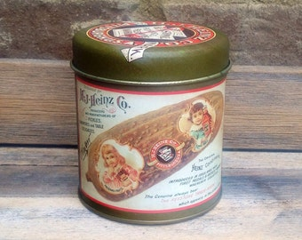 Vintage H J Heinz Company Pickling and Preserving Tin Can - pickles!