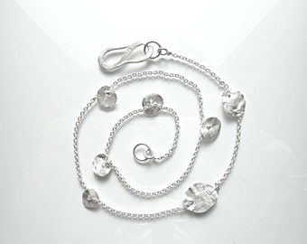 Silver chain with delicate fine silver flakes, wedding, Casual wear, design, handmade, 999/000 - handmade by SILVERLOUNGE