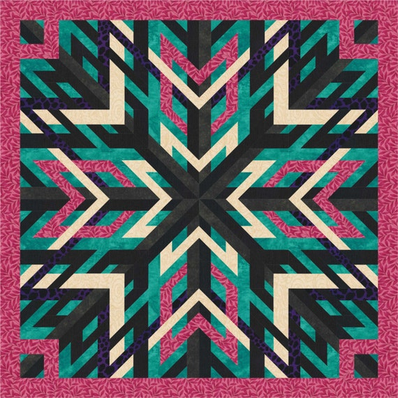 Woven Star Quilt Pattern Quilt Block Pattern Instant