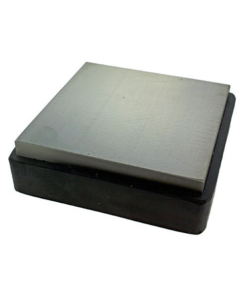 Steel Bench Block With Removable Rubber Base 3 7 8 X