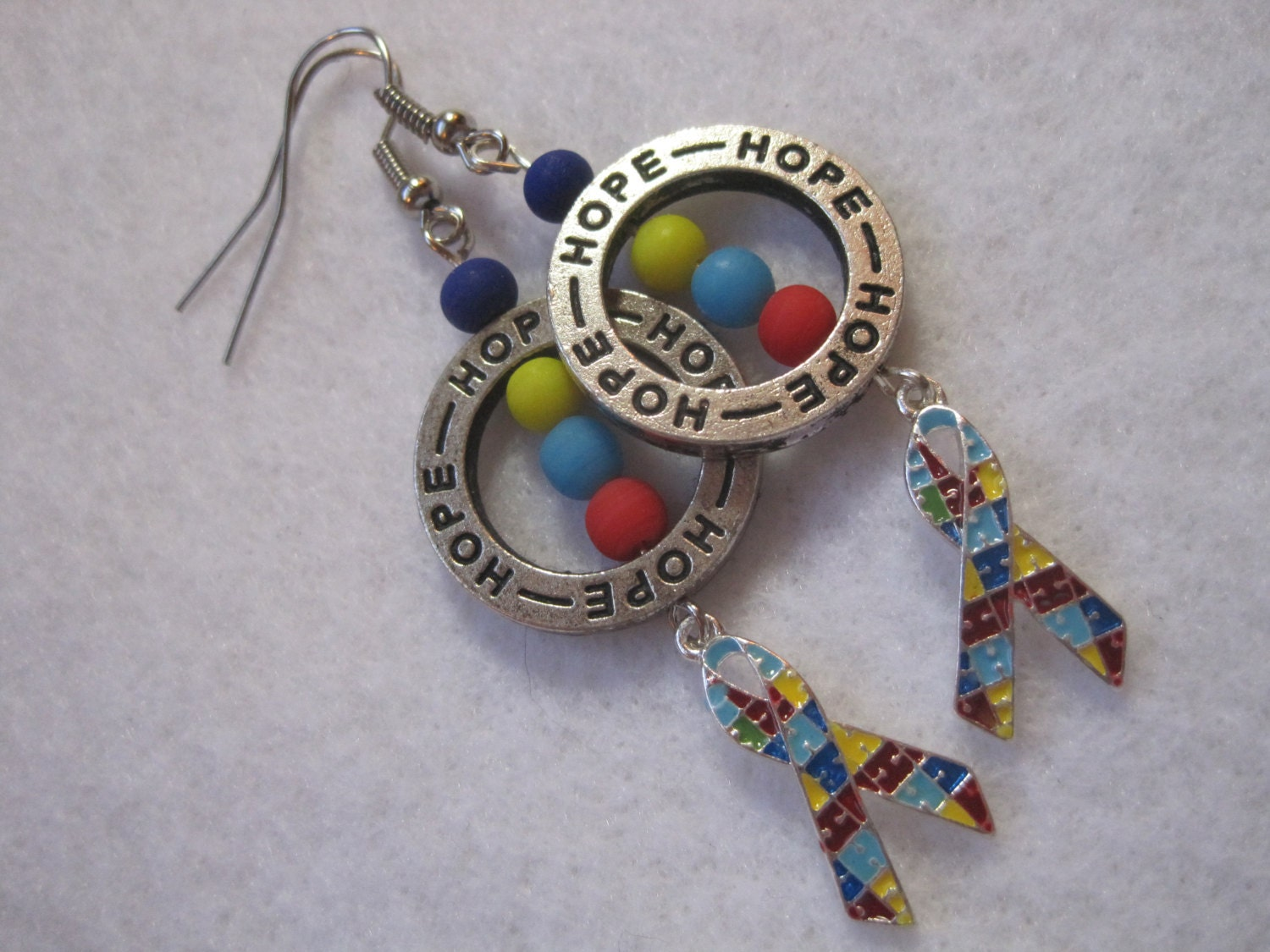 autism awareness earrings autism jewelry inspired