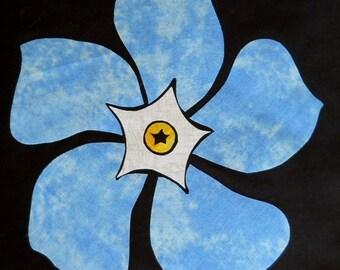 Columbine Flower Quilt Applique Pattern Design