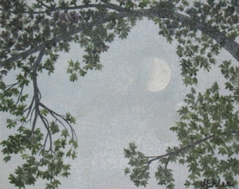 "10x8"" 'Quarter Moon' oil painting"