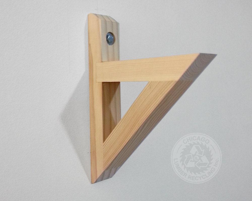 Wood Shelf Brackets ~ Single shelf support bracket sv built to last unique