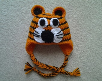 Crochet Tiger Hat / Animal Hat