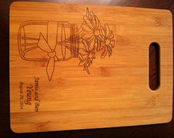 3 bamboo Wedding Cutting boards