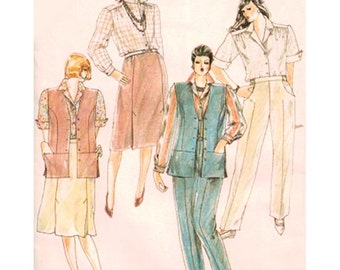 Simplicity Sewing Pattern 6497 Misses' Pants, Skirt, Shirt, Lined Vest by Phyllis Sidney Size:  18  Uncut