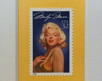 Marilyn Monroe Custom Framed Single Postage Stamp Art, Some Like It Hot