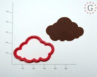 """3  1/2"""" Cloud Cookie Cutter"""