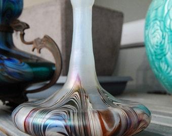 Bohemian Art Nouveau Glass Soliflore By Wilhelm Kralik. Stunning Colours. 1900s. Mint Condition.
