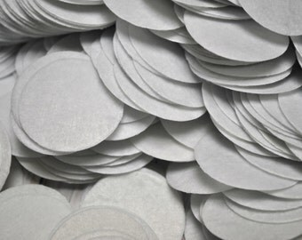 "White Felt Circle 1.5"" inch - DIY craft felts - bulk felt circles"