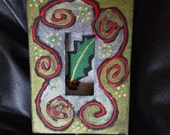 Holly Berry Goth Style - A perfect wedding gift! A Shadowbox Painting done Goth style!