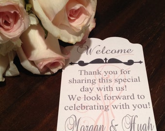 Wedding Guest Gift Bag Tags-Set of 10
