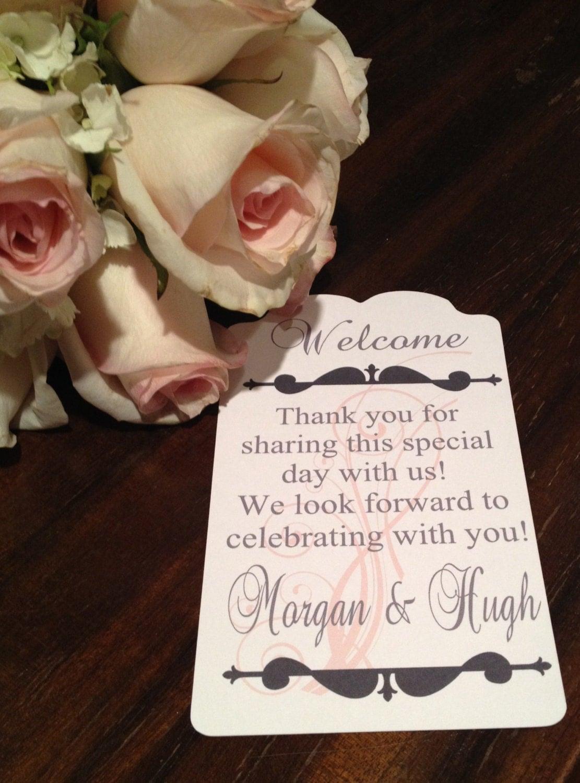Wedding Gift Bag Tags : Wedding Guest Gift Bag Tags-Set of 10