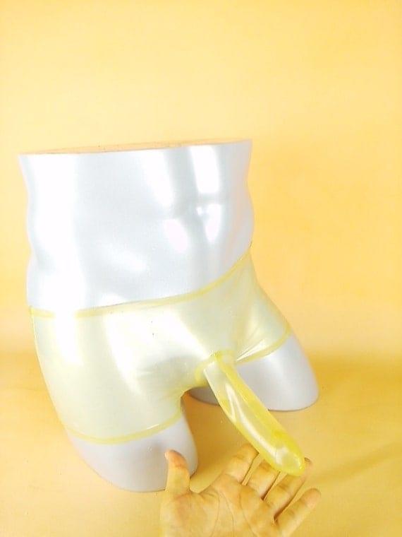 Mens underwear condom rubber