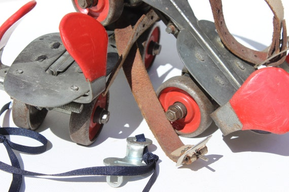 Vintage Roller Skates With Skate Key By Union Hardware For