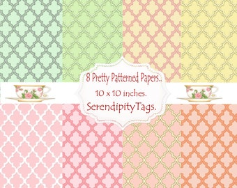 8 Pretty Patterned Papers