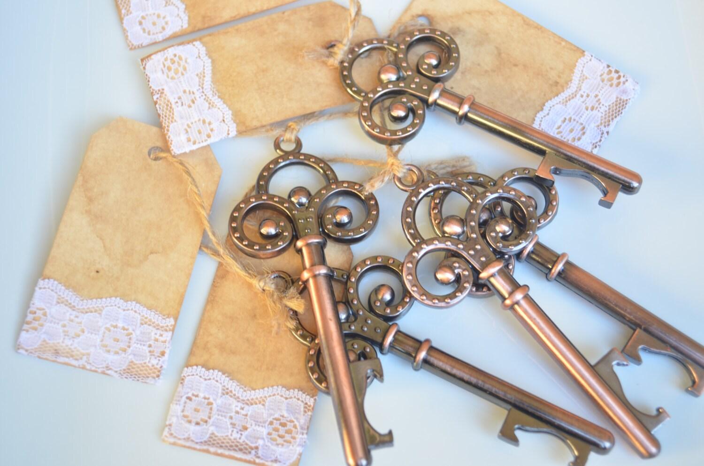 skeleton key beer bottle opener wedding favor with by. Black Bedroom Furniture Sets. Home Design Ideas