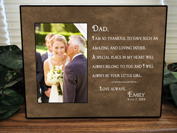 Bride Gift Father Of The Sayings: Father Of The Bride Gift Bridal Wedding Frame Dad Wedding