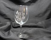 Harry Potter Wine Glass -Harry Potter Spell Inspired Wine Glass