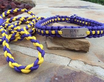 Custom dog collar & leash combo