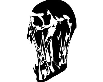 Skull Decal sticker wall art car graphics room decor sugar emo goth gothic metal AA42