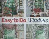 Easy to Do Windows - At Home with Waverly Easy to Do Patterns - Butterick Design with Butterick Pattern 5480 Dated 1991