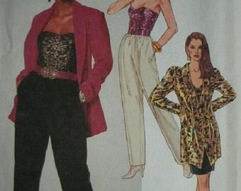 Misses Unlined Jacket, Bustier, Skirt and Pants Size 14 McCalls Petite-Able Pattern 5717 UNCUT 1991